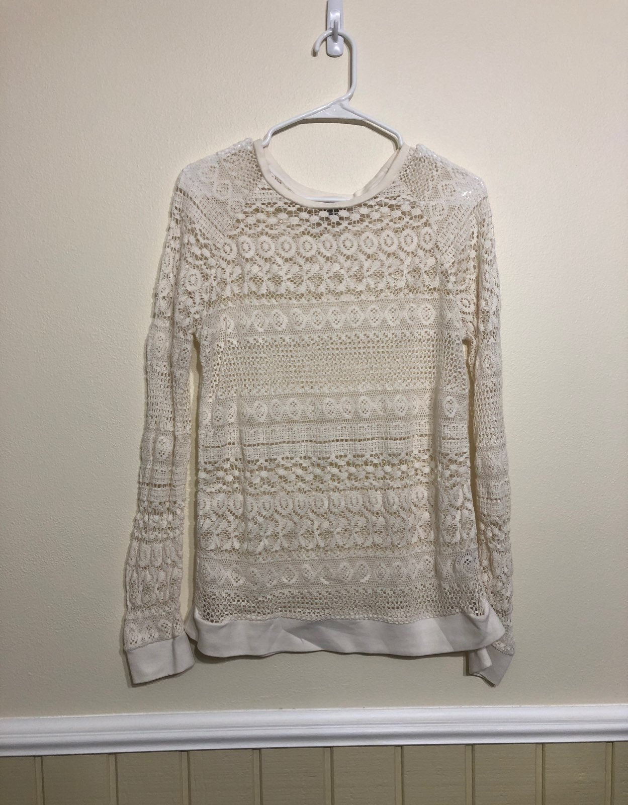 Lace sweater overlay