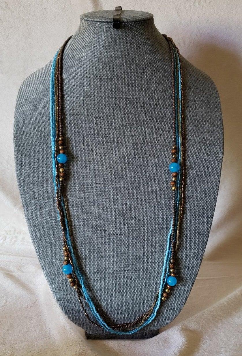 Avenue Blue & Bronze Necklace