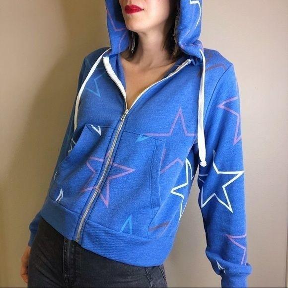 Wildfox Starlight Regan star blue hoodie