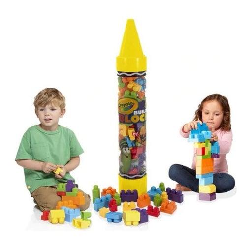 80 pieces Crayola building block tube