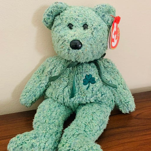 Ty Beanie Baby Shamrock Bear