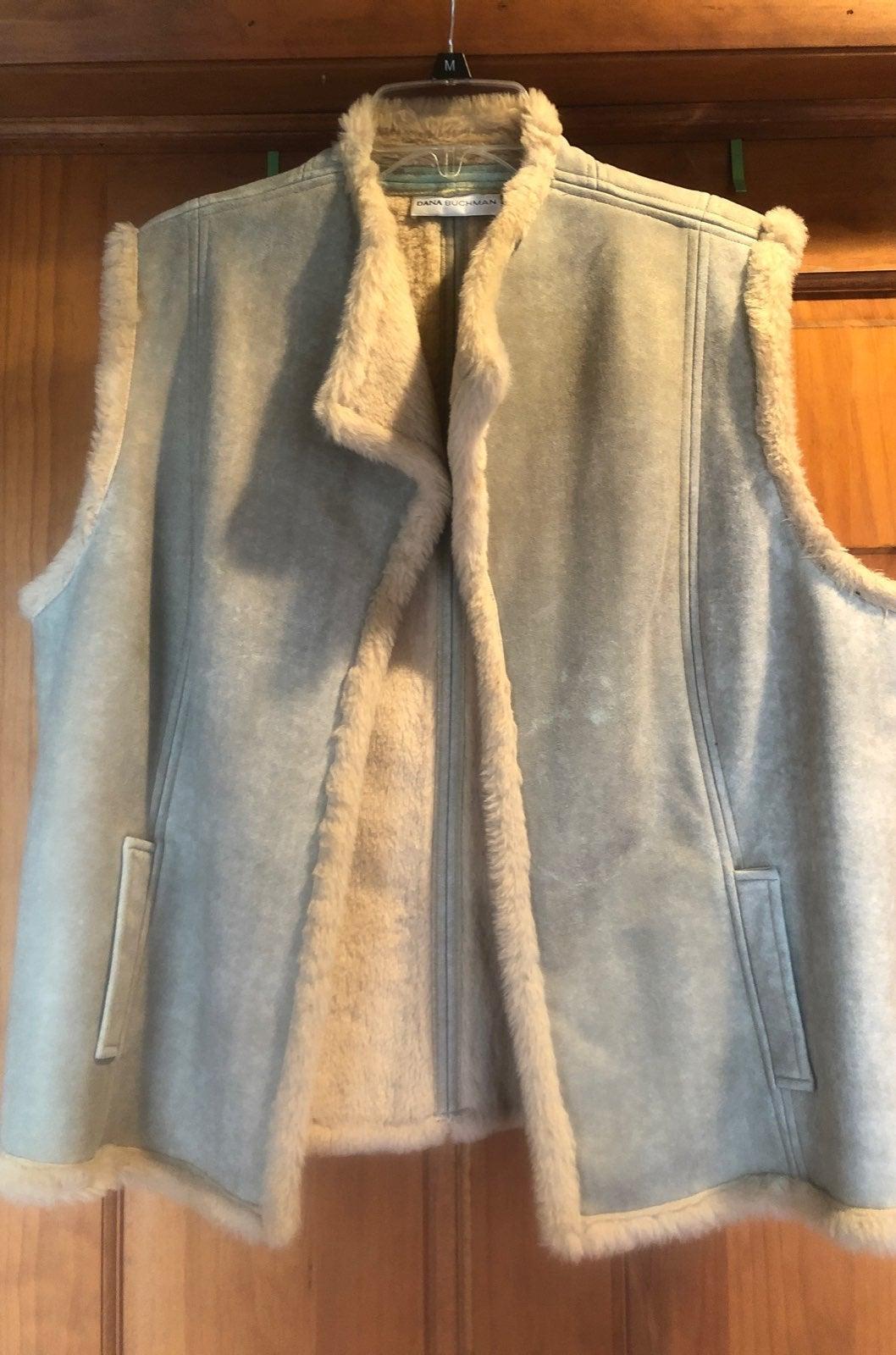 Dana Buchman faux fur vest