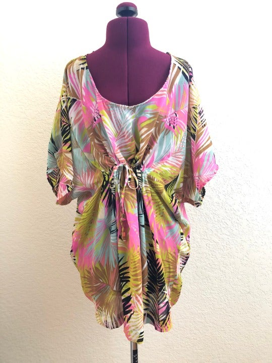 H&M Colorful Tropical Swimsuit Cover-up