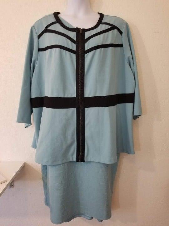 Catherines Curvy Bandage Cosmo Dress 32W