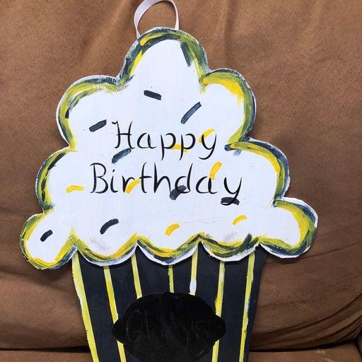 Cupcake Birthday sign