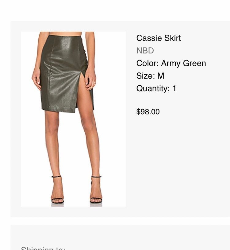 NBD Faux Leather Skirt