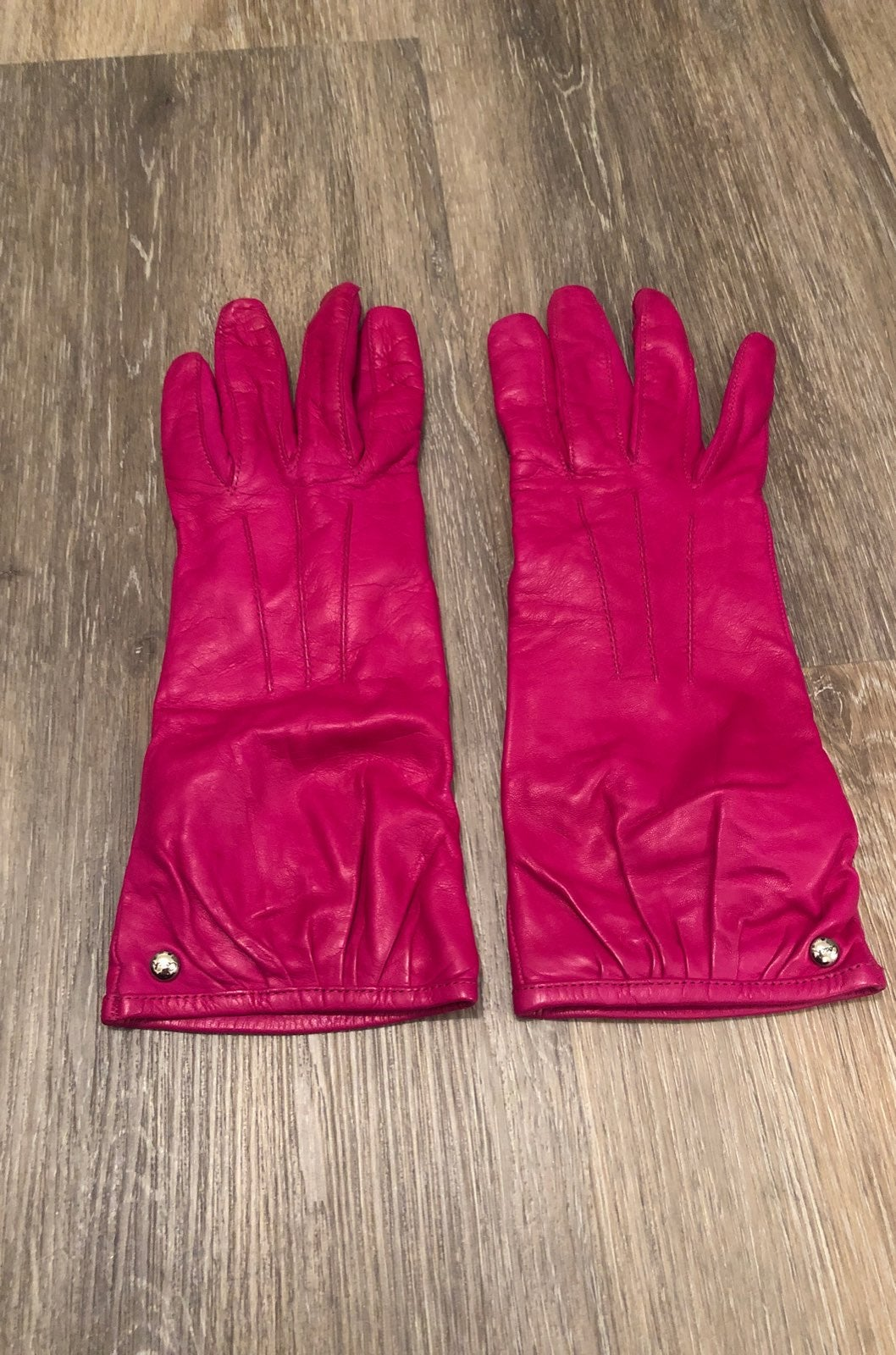 Coach Pink Leather Gloves