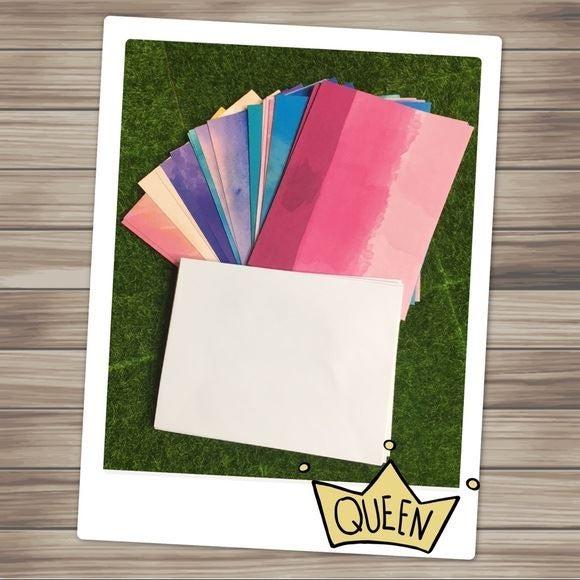 Set of 20 Blank Notecards