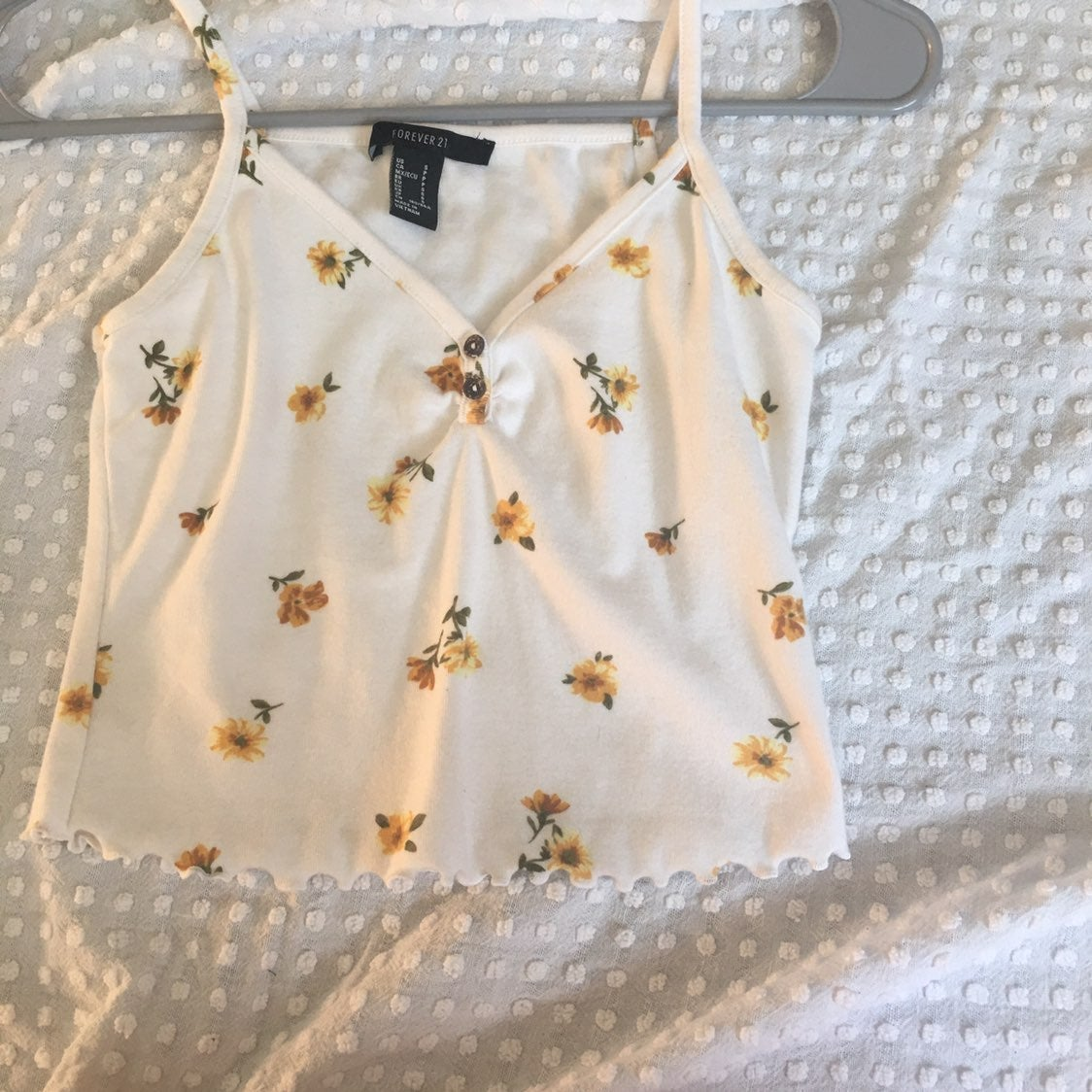forever 21 simple floral tank top