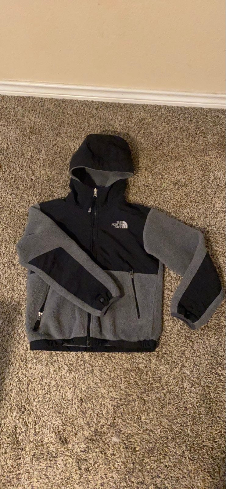 Kids unisex The north face hooded jacket