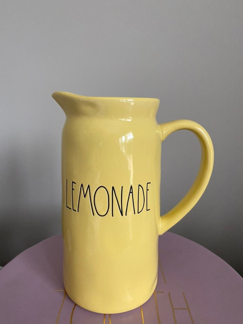 Rae Dunn lemonade pitcher
