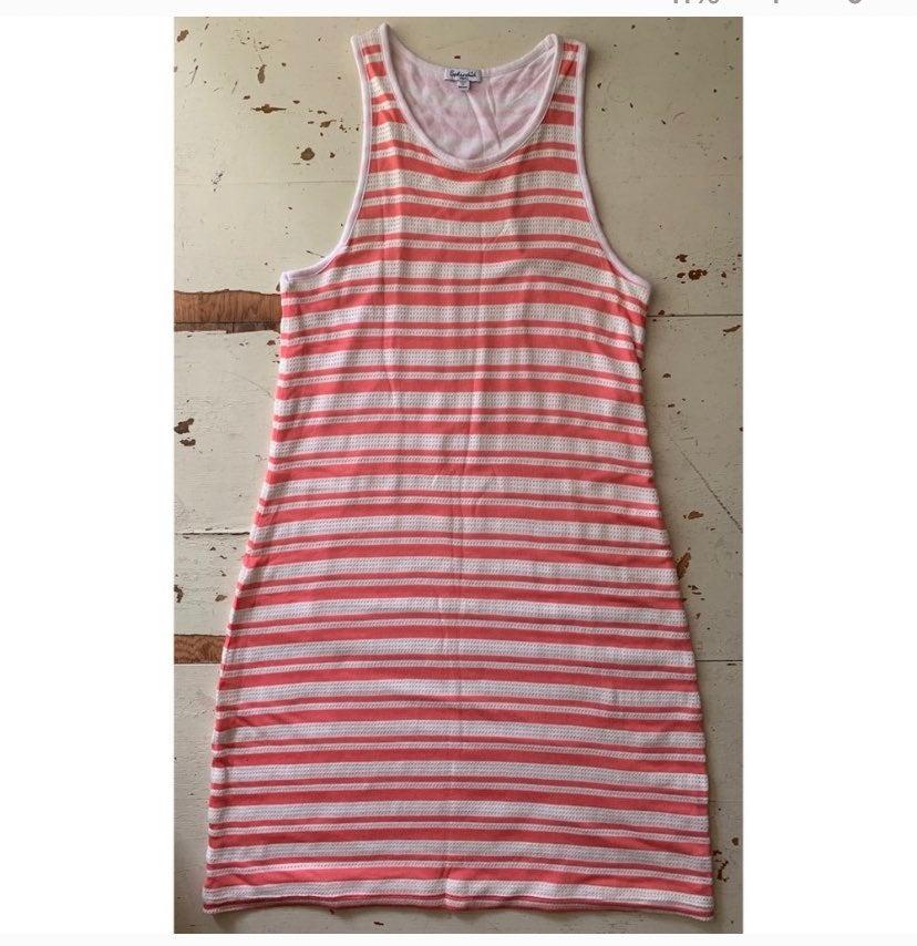 Splendid striped racer back tank dress
