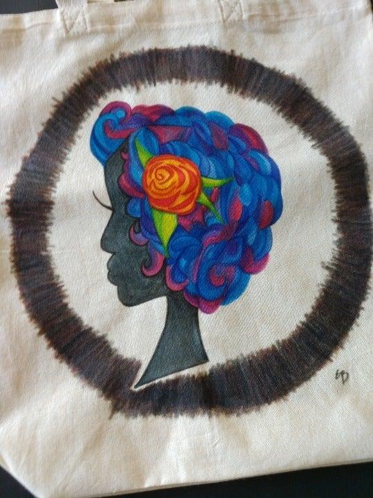 Retro Lady Grocery Bag Woman Art Tote