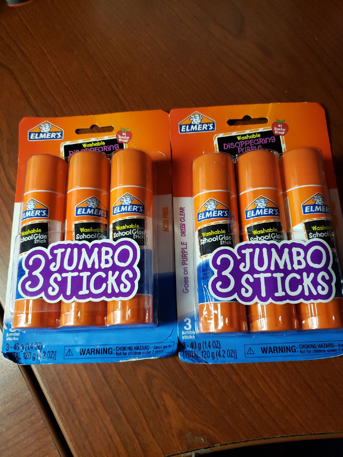 Elmer's jumbo glue sticks