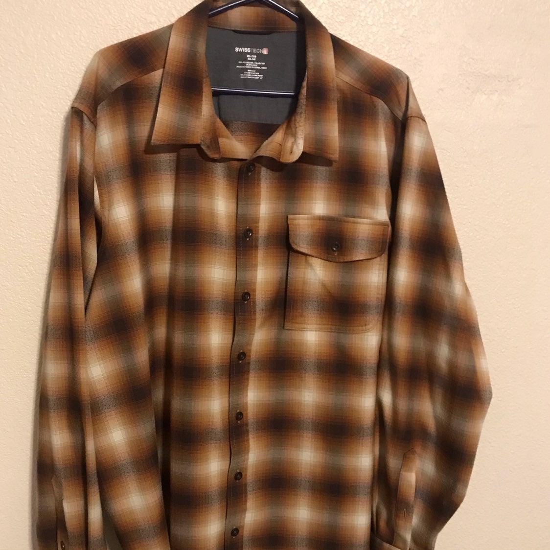 Mens 3x flannel, long sleeve