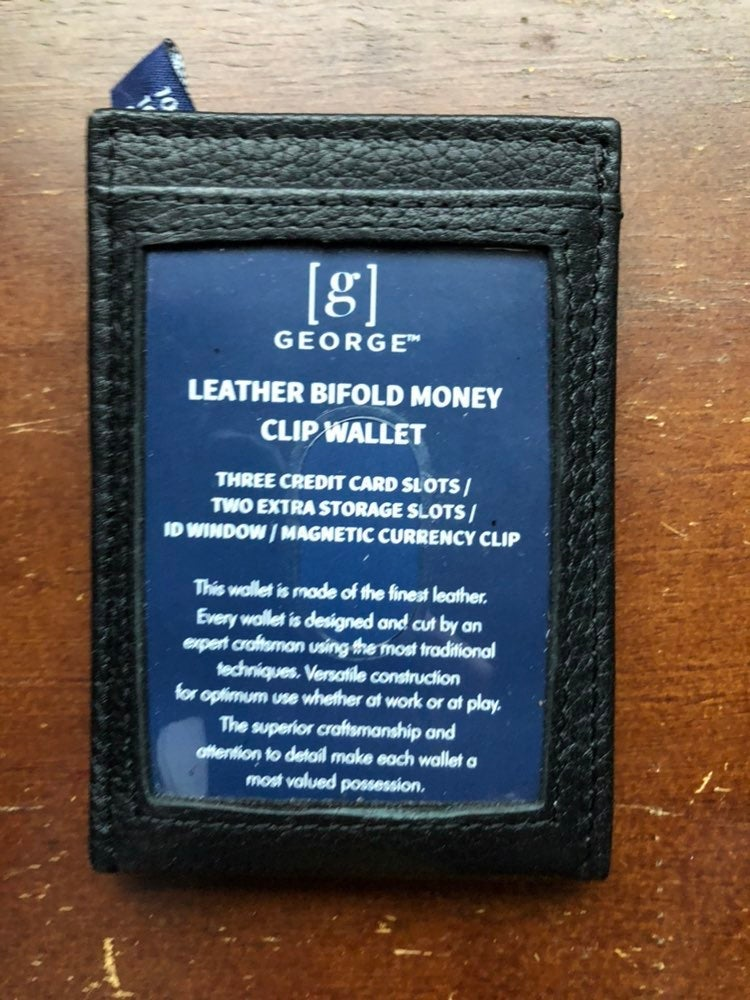 George Leather Bifold Clip Wallet