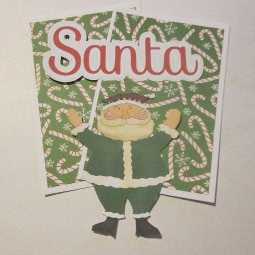 Santa c - Scrapbook or Card Set