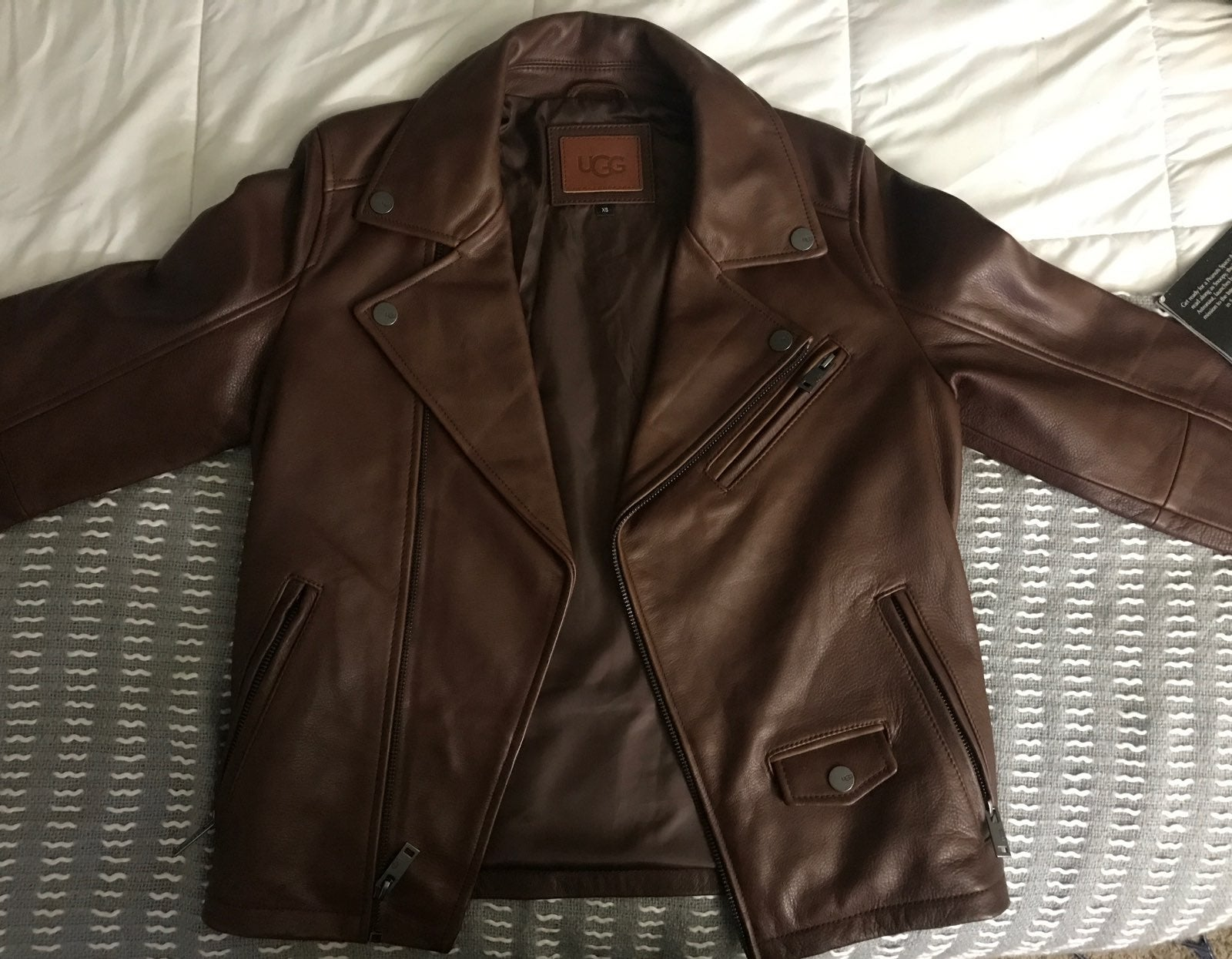 UGG Men's Vaughn Leather Moto Jacket