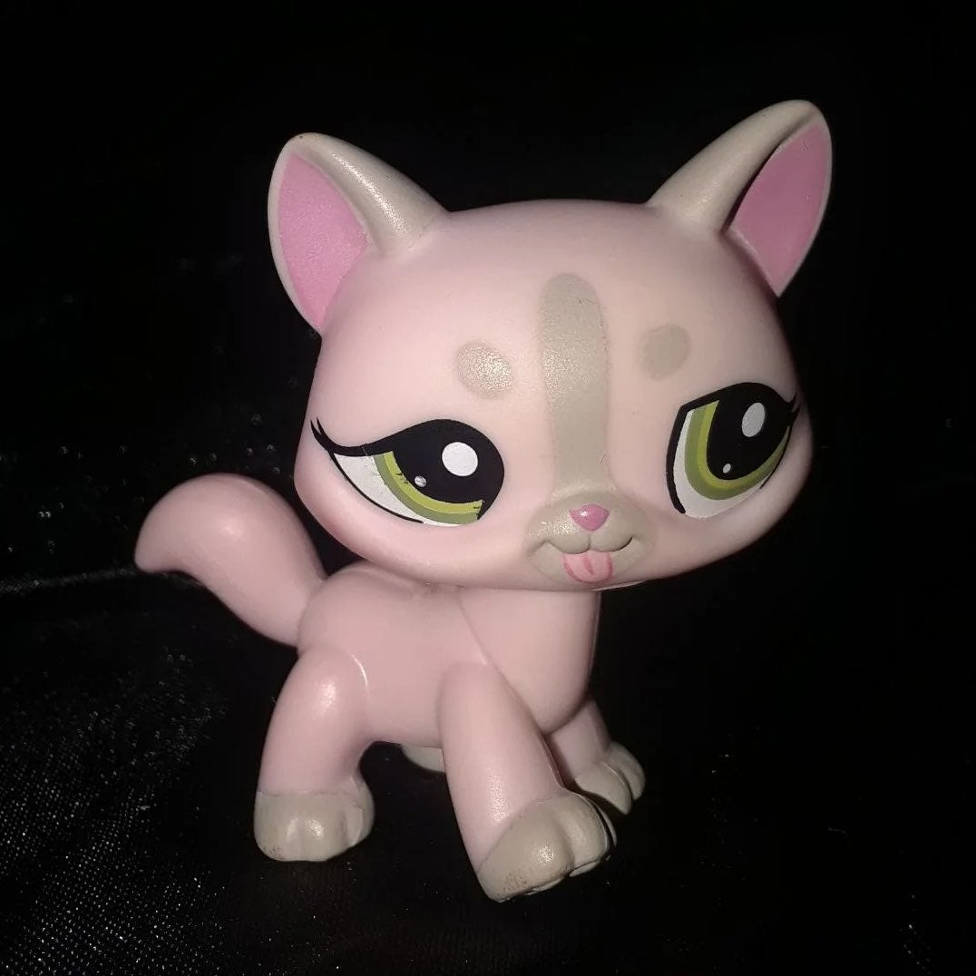 LPS short hair Kitty pink & grey Cat