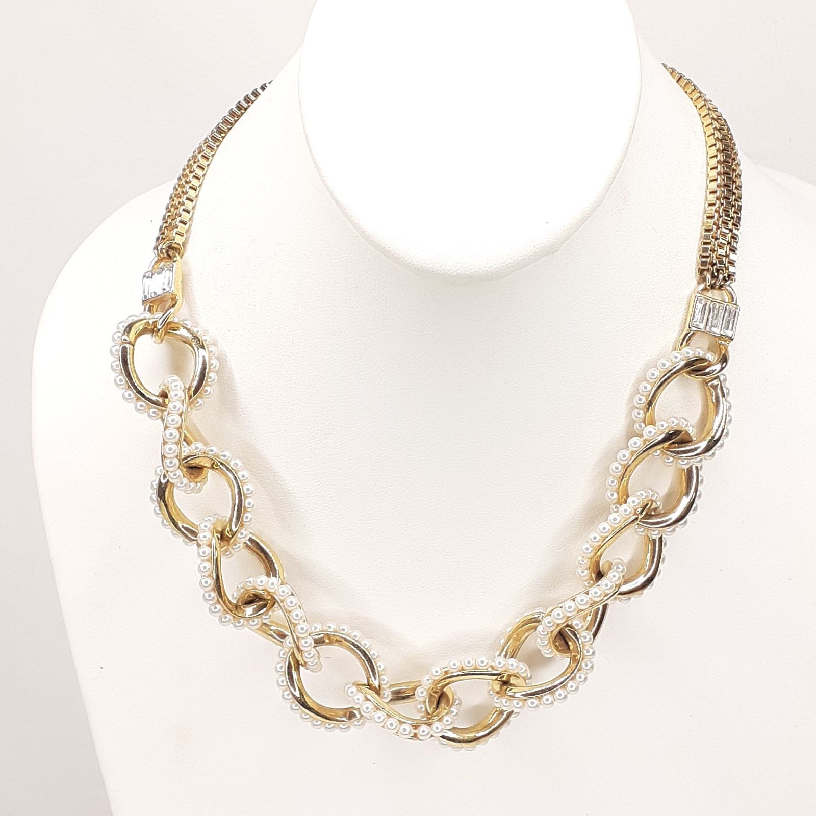 Ann Taylor Necklace Gold Tone Chainlink