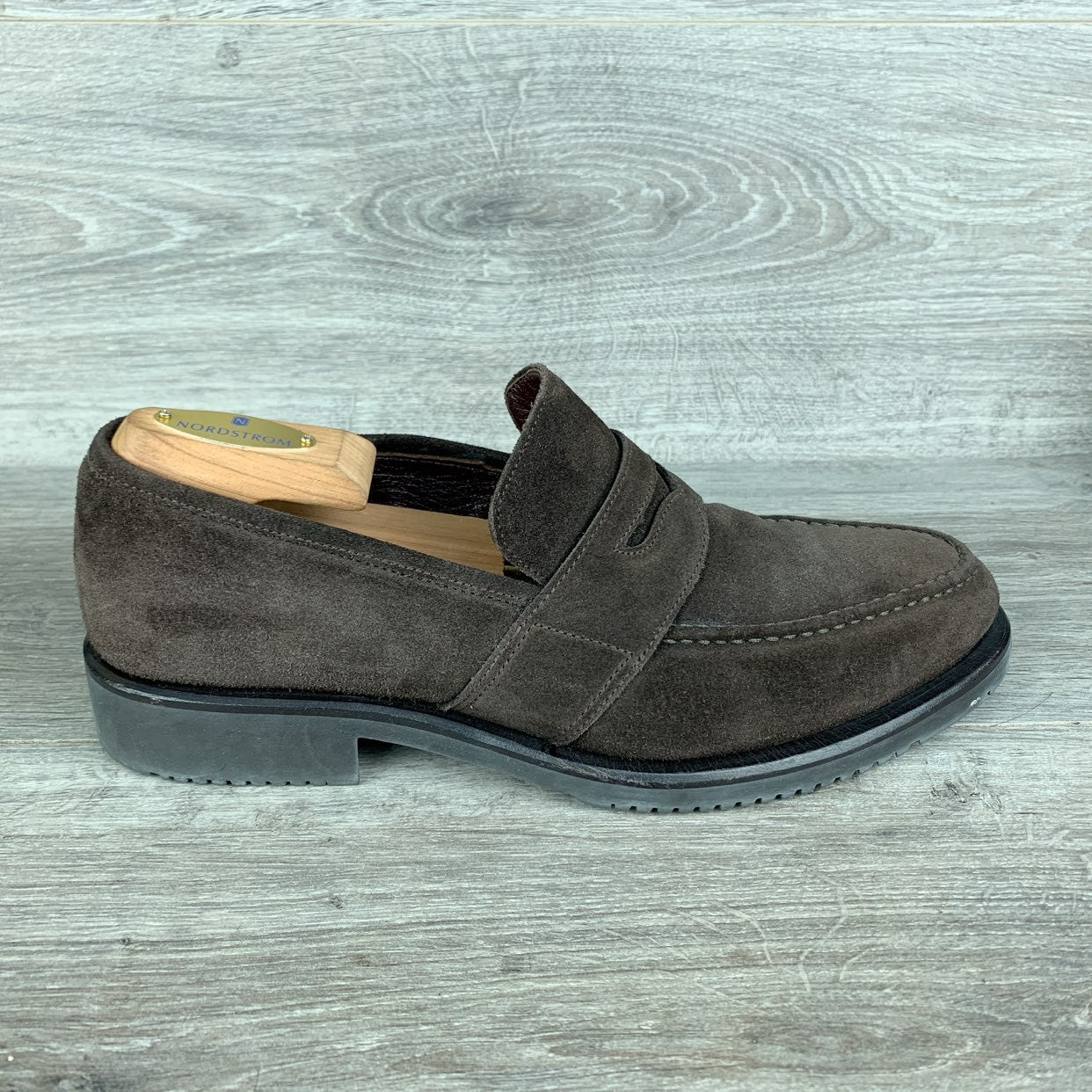 Paul Stuart Choice Suede Brown Loafers