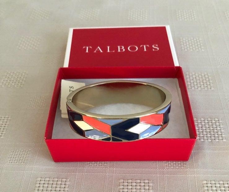 Talbot's Hinged Enamel Bracelet