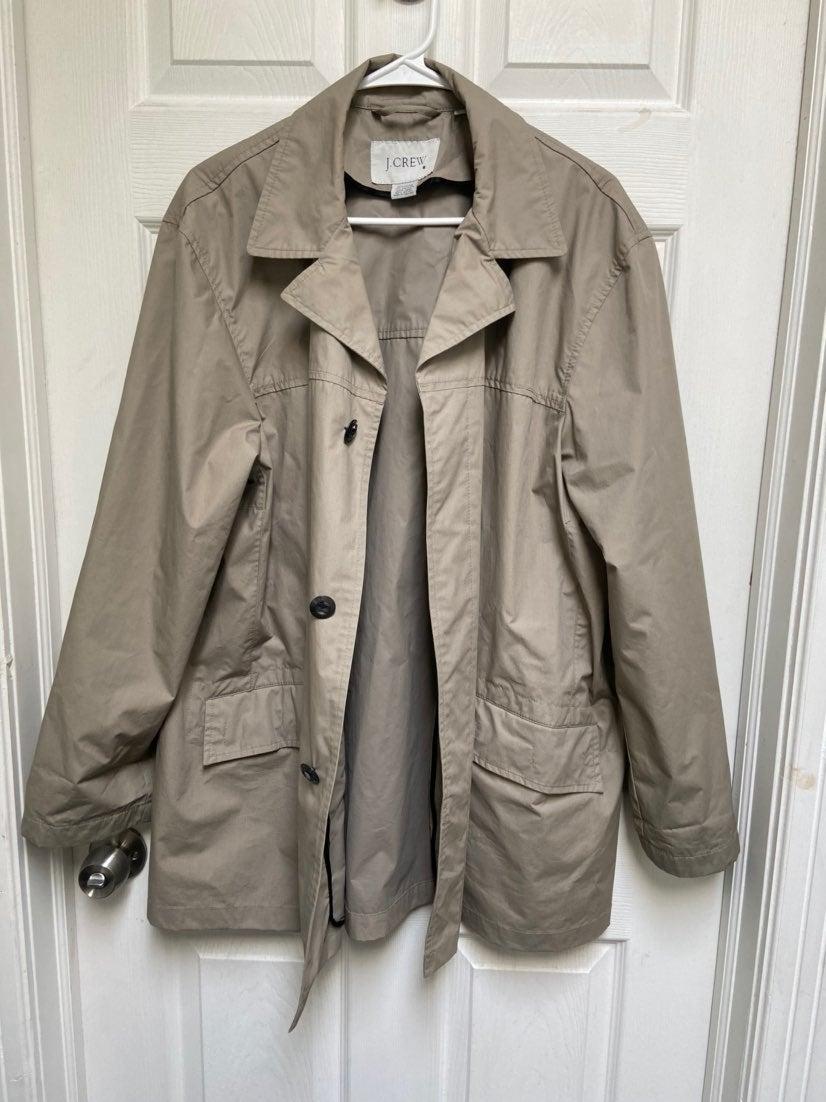 Jcrew button down short trench coat