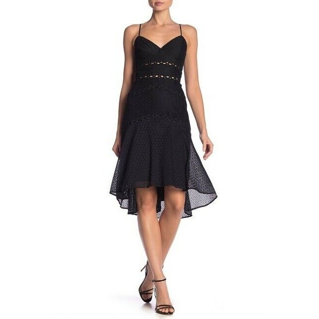 Bardot Ariana Black Crochet Lace Dress