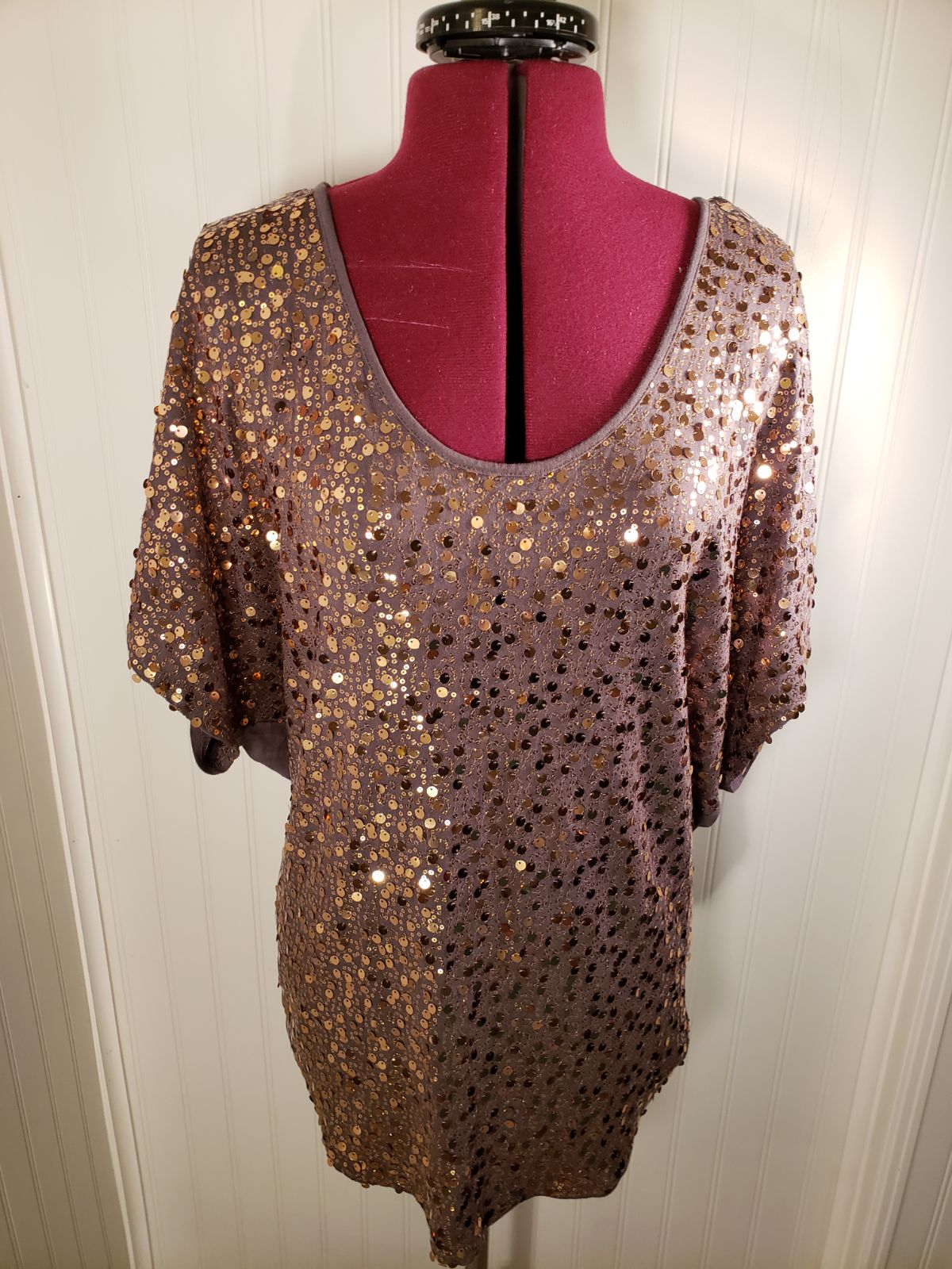Remain Sequined Blouse SZ Med
