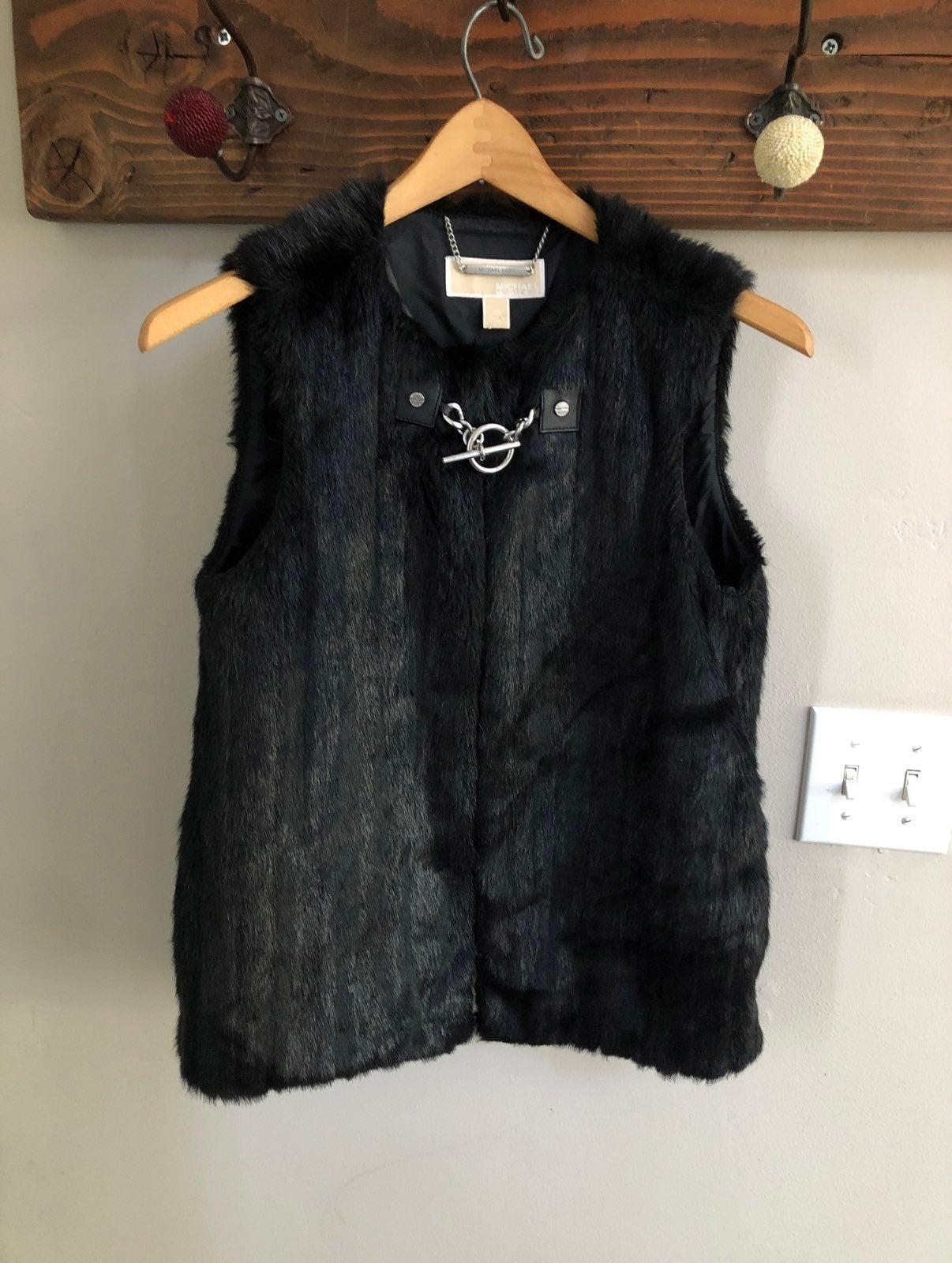 Michael Kors MK faux fur toggle vest