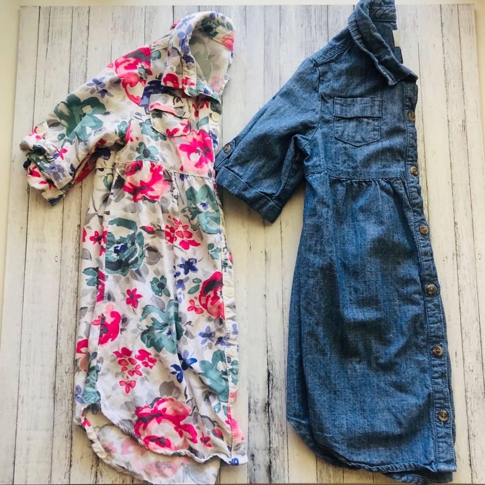 Set of Girl Shirt Dresses | Size 5T