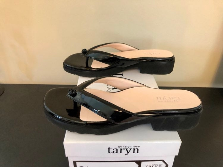 Taryn Rose Patent Leather Thong Sandals