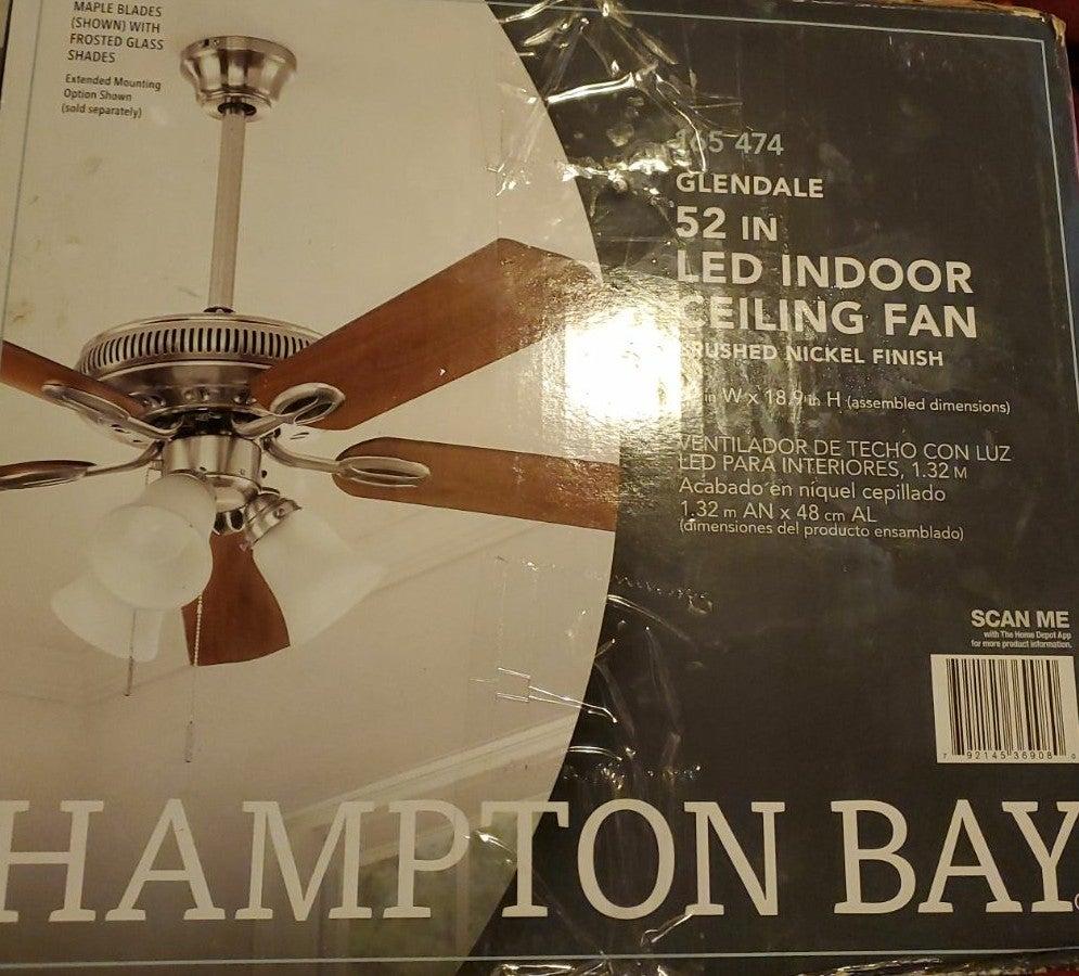 Hampton Bay 3 light Ceiling Fan