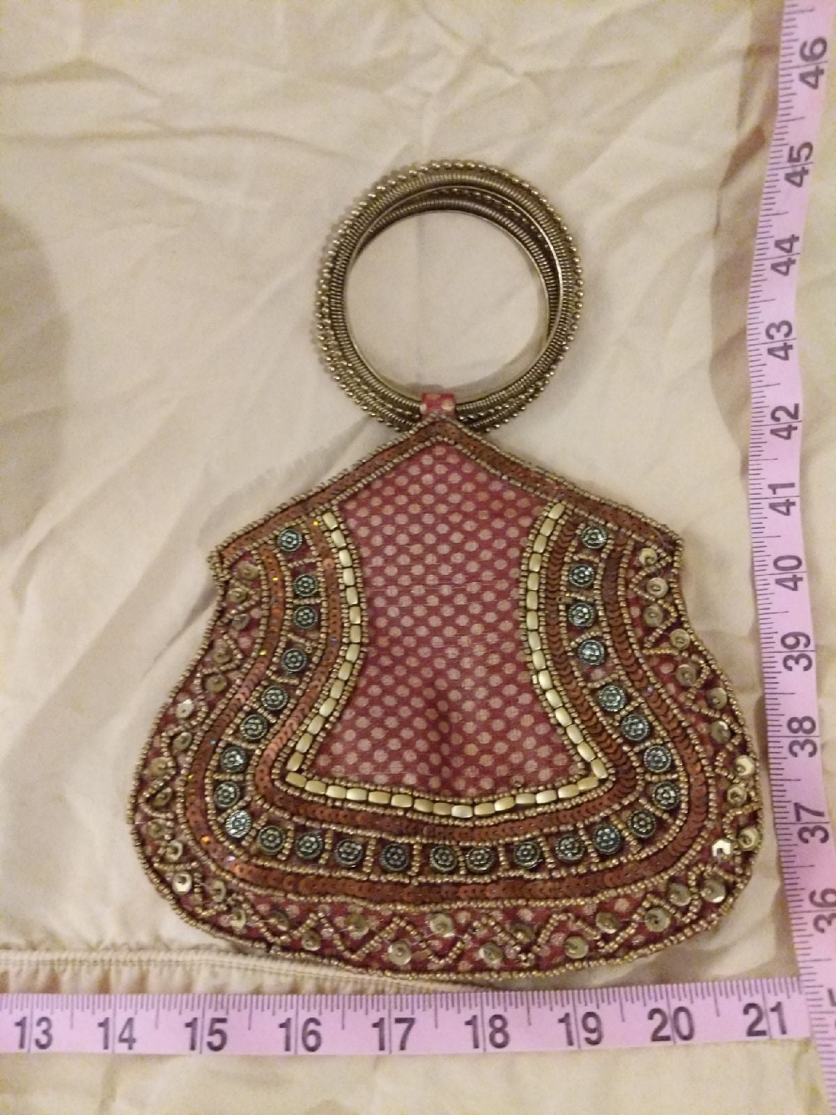 Beautiful made in India small purse/bag.