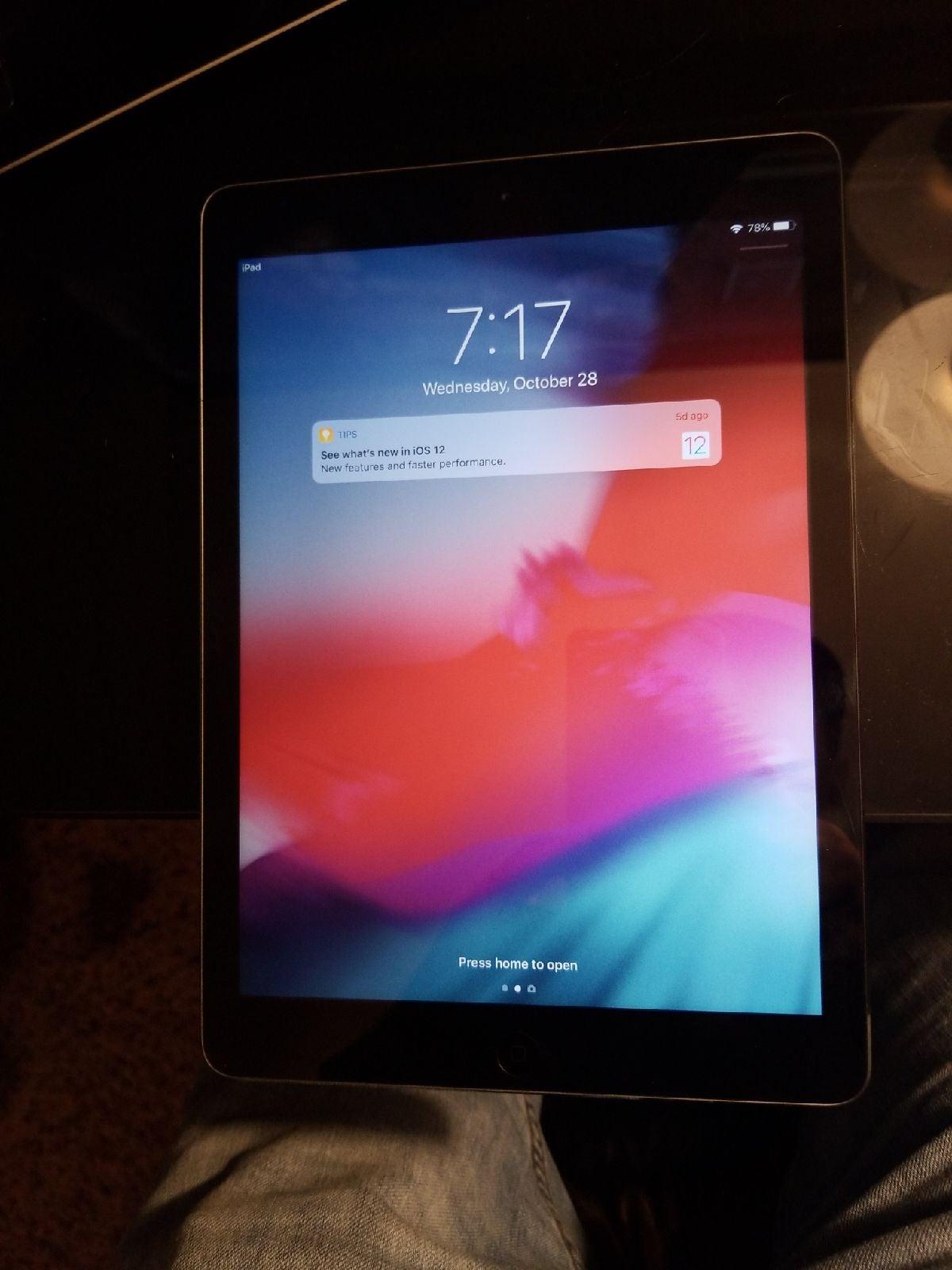Mint cond. iPad air 32g works 100%