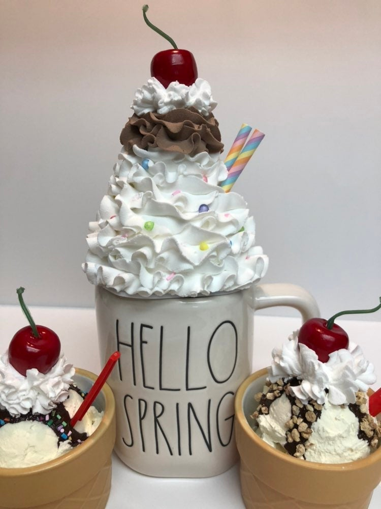 Faux ice cream whipped topper