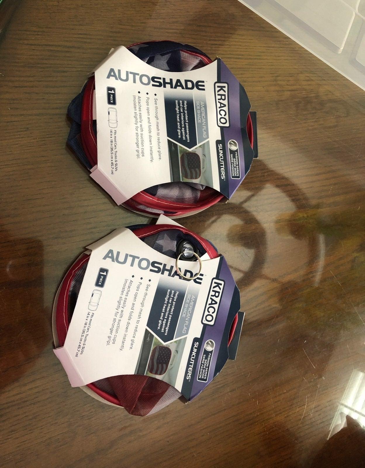 Autoshade American flagside shade 2 pcs