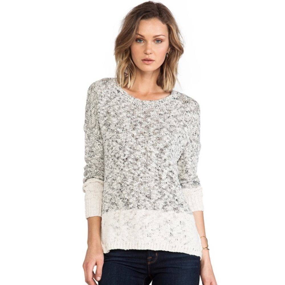 Vince Marled Colorblock Knit Sweater