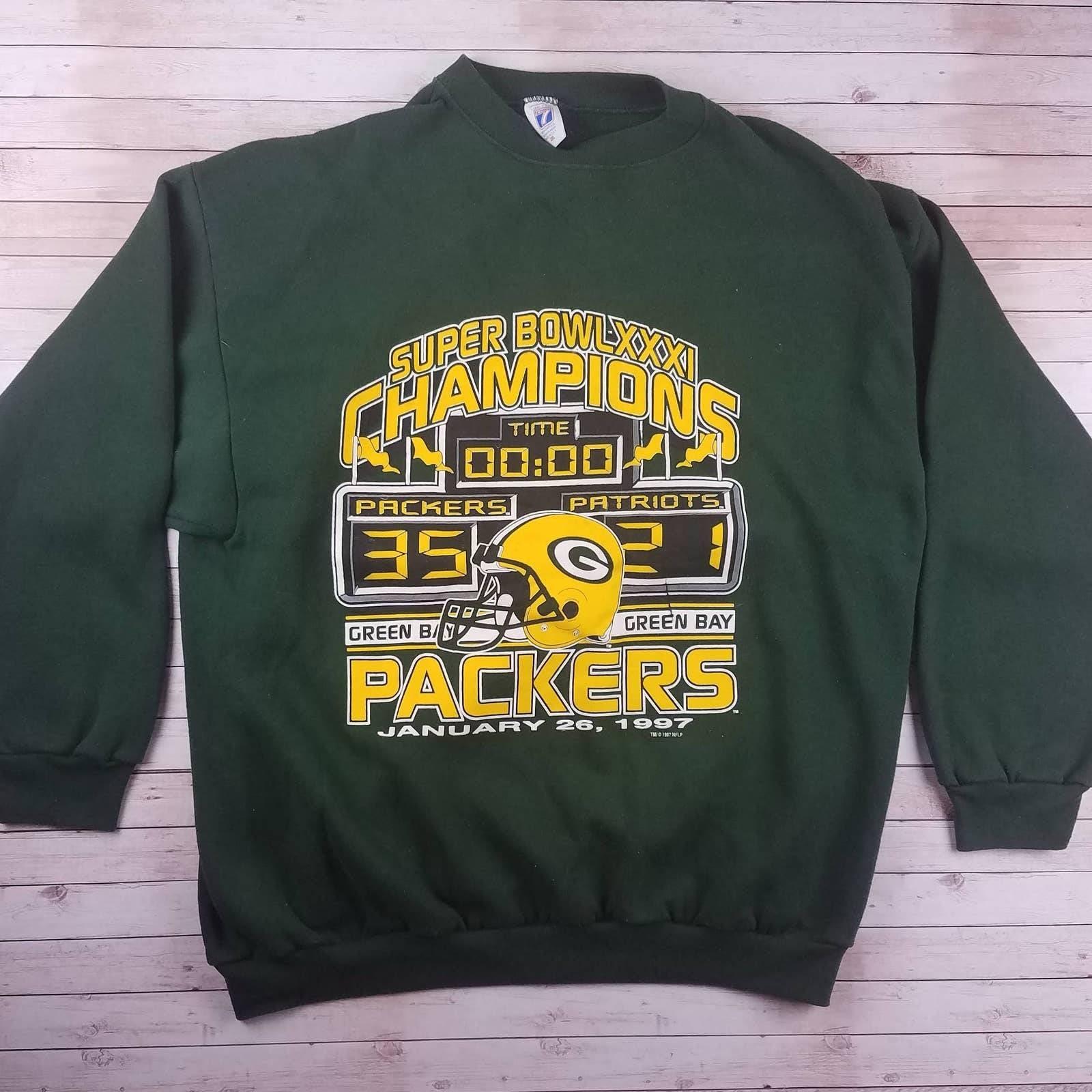VTG 90s Packers SB Champs Sweatshirt