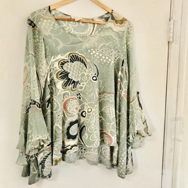 Anthropologie papier paisley blouse