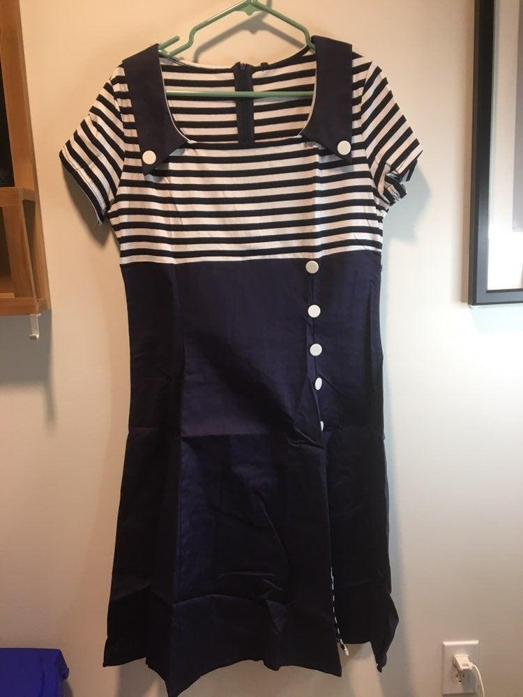 Zaful XL Navy 1950s dress