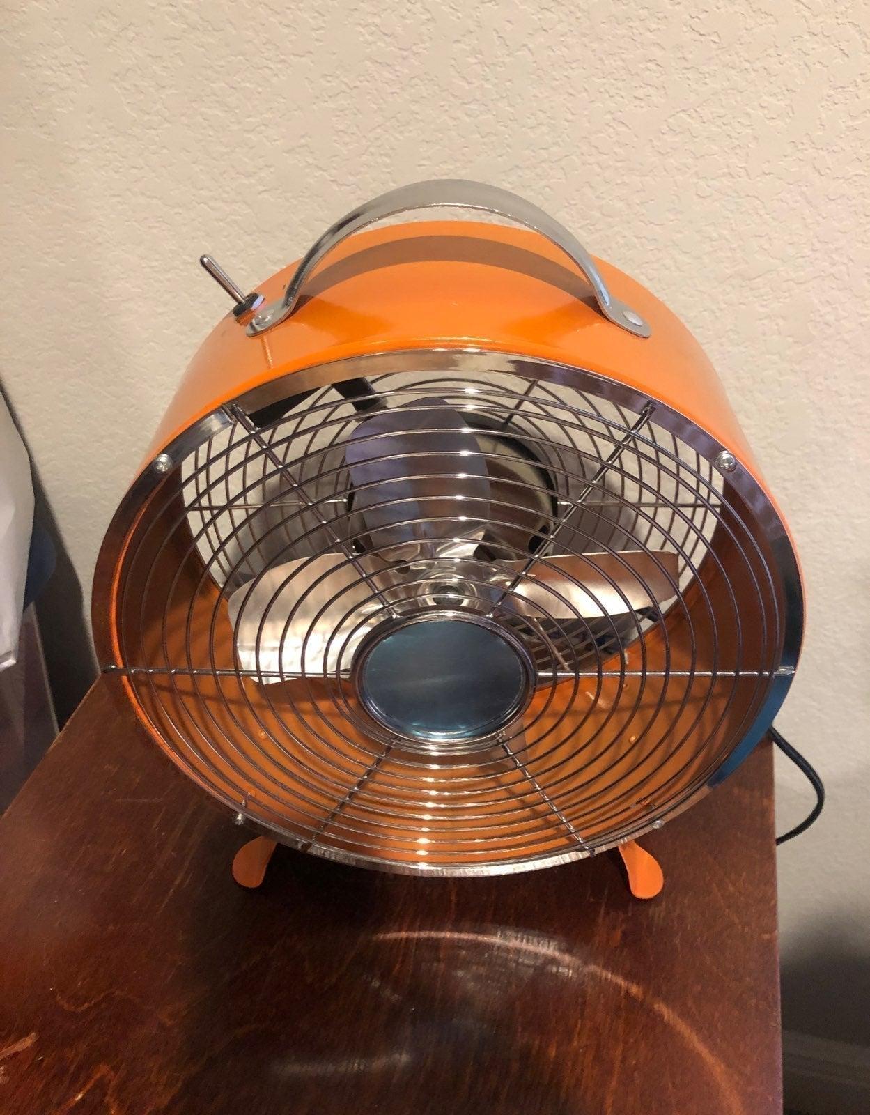 Orange desktop Fan