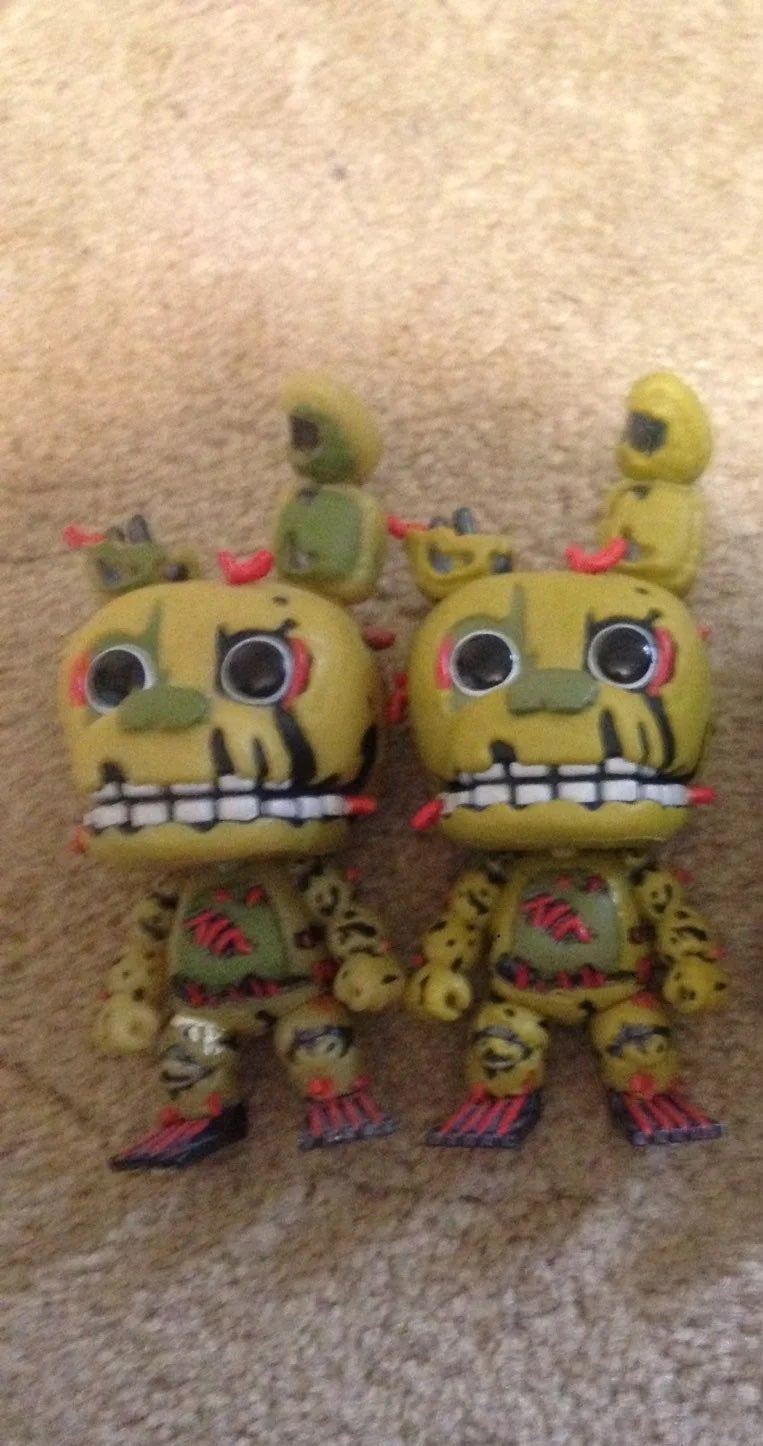 Fnaf springtrap funko pop lot (READ DESC
