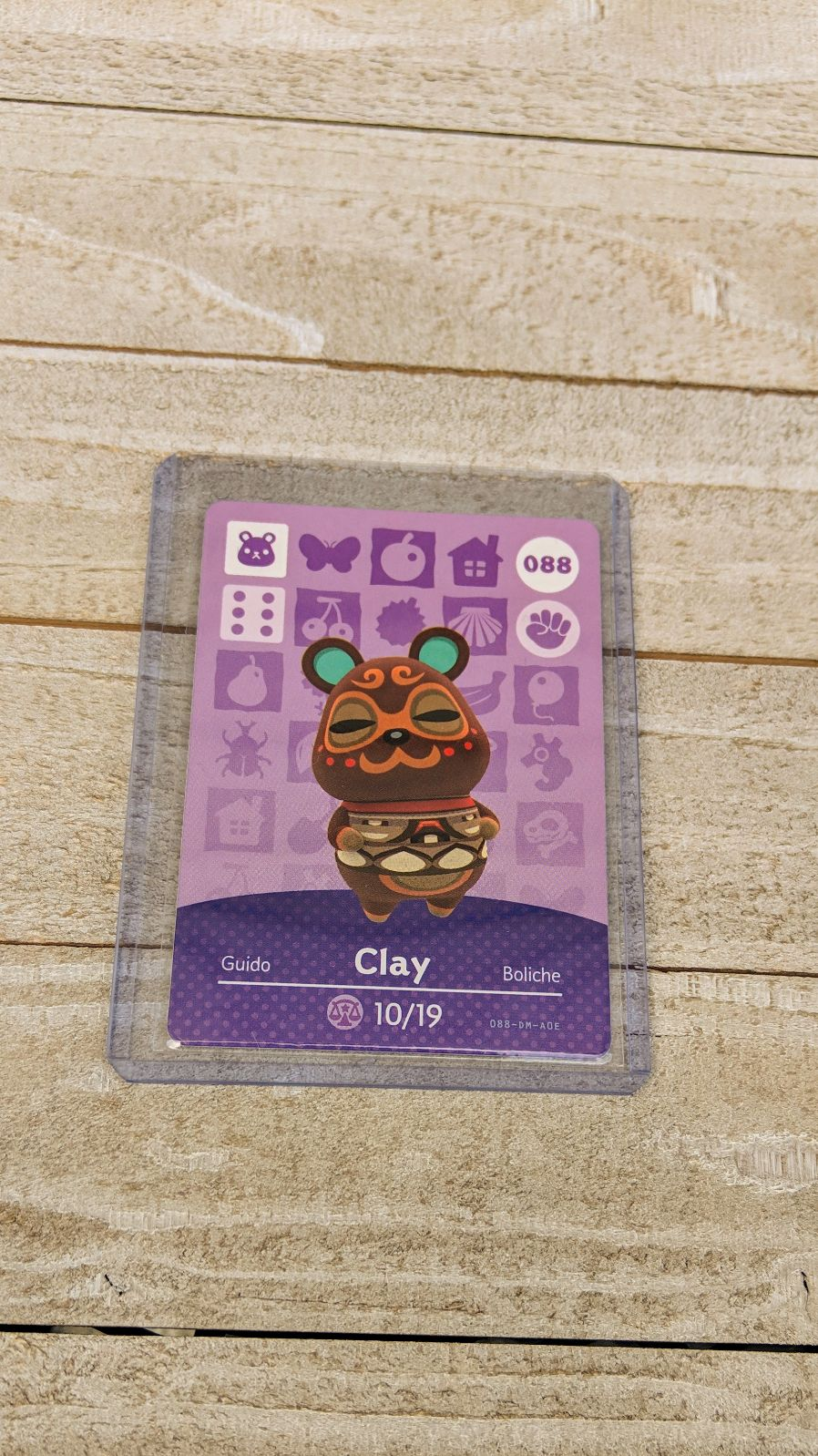 Animal Crossing Amiibo Card Clay