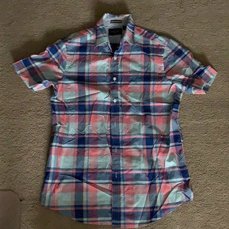 Black brown men's shirt