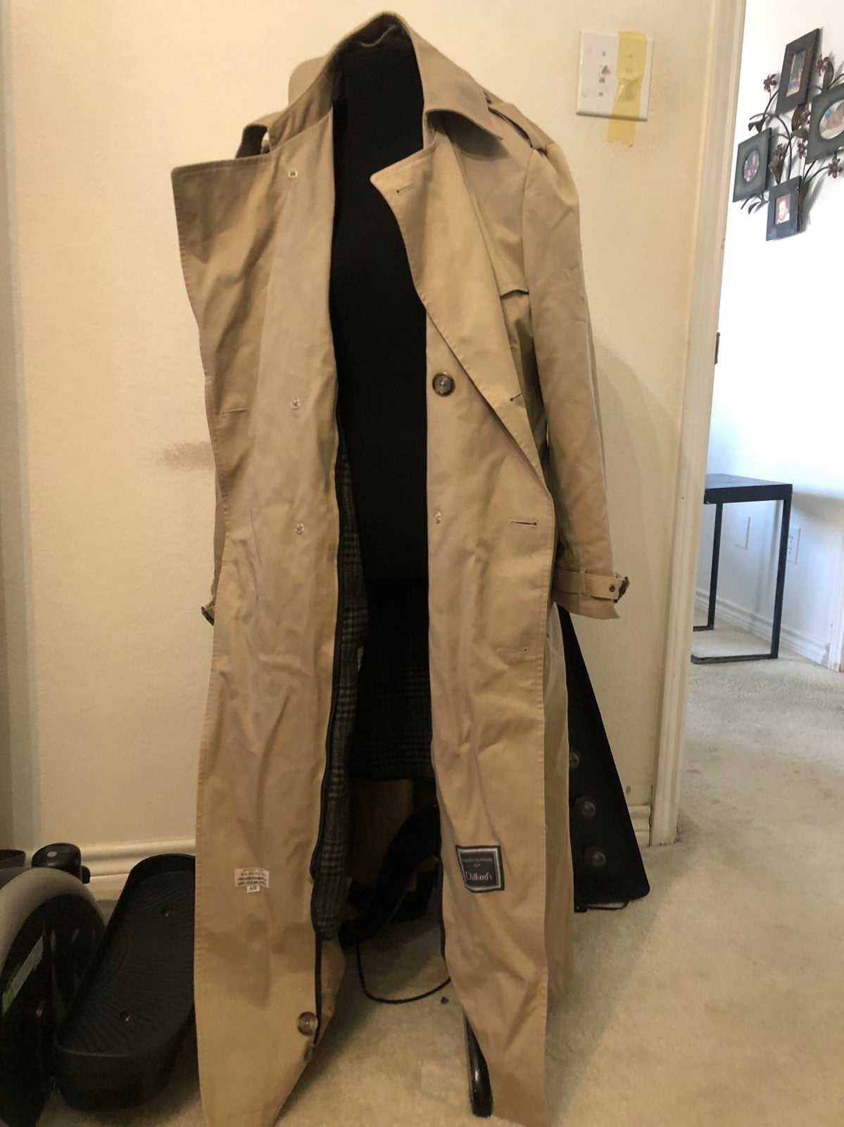 Christian Dior mens trench coat 42R