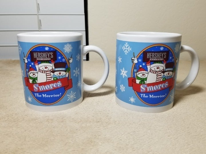 Set of 2 Vintage Coffee Mug Hershey's