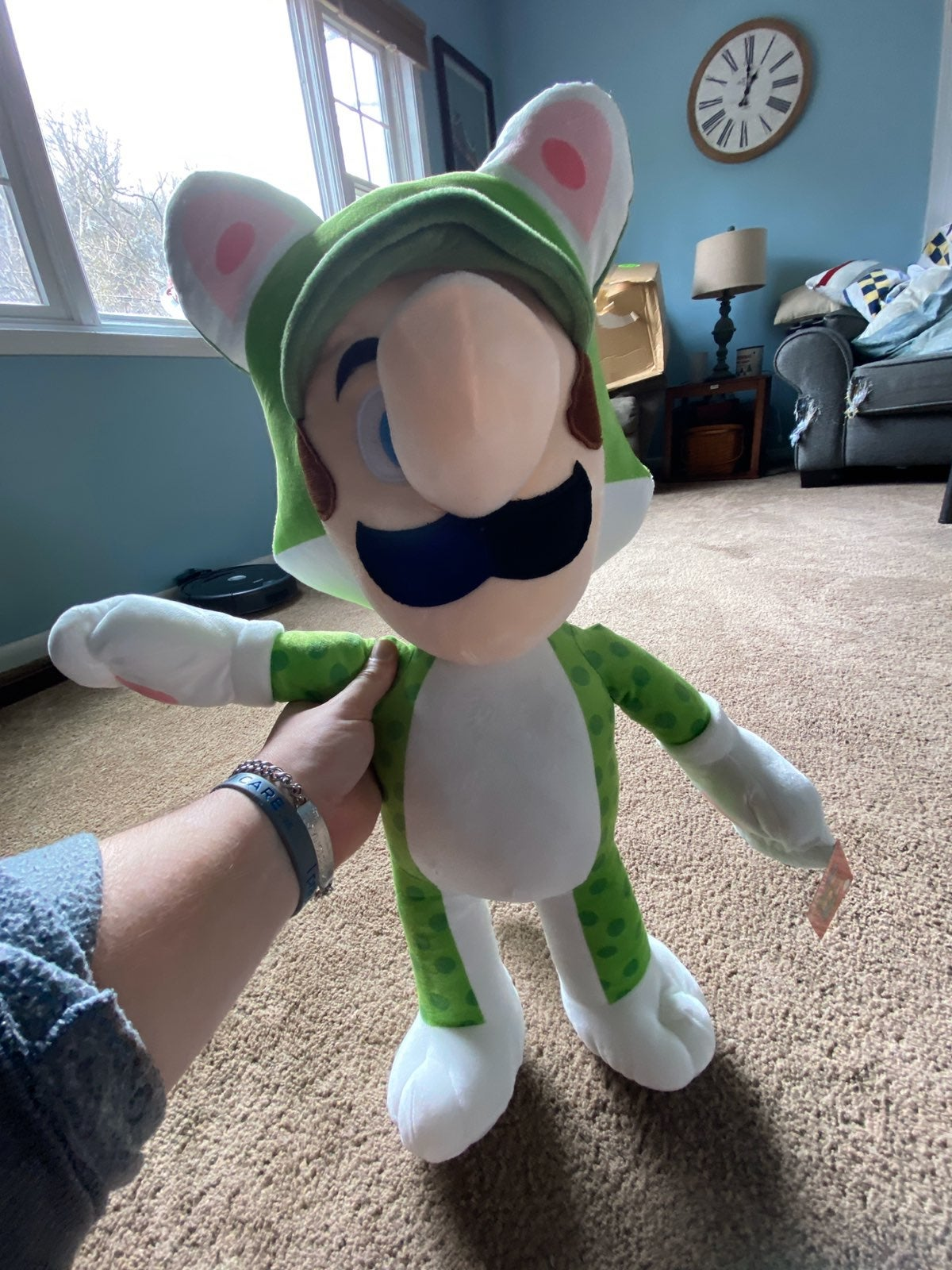 Cat Luigi Plush (Huge Over 2ft)
