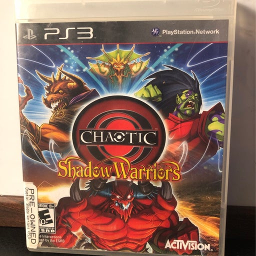 Chaotic shadow warriors ps3