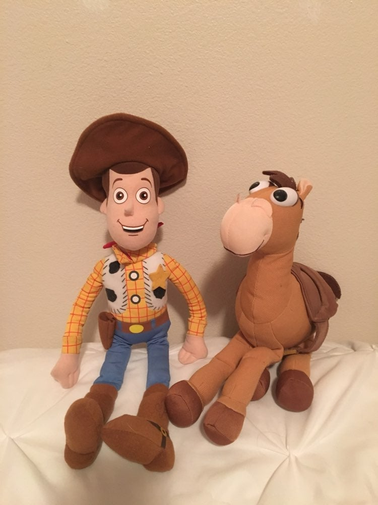 Toy Story Woody & Bullseye Plush.